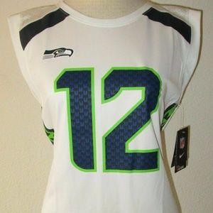 Nike Seattle Seahawks Football jersey tank top S